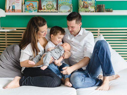 Natürliche Babyfotos, Familienfotos Wien